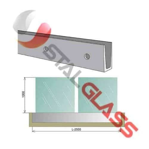 Balustrada całoszklana szkło VSG 88,2