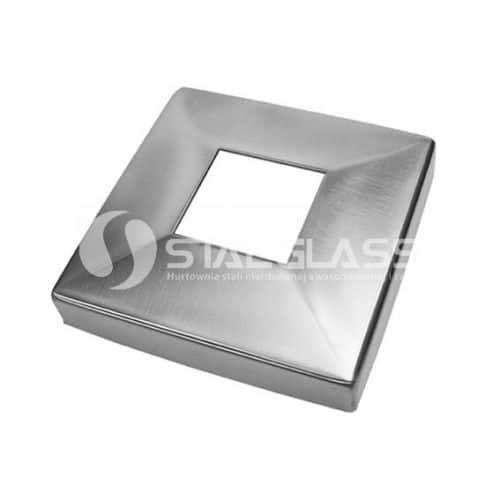 Rozeta maskująca 90x90 mm dla profilu 40x40 mm aisi 304 poler