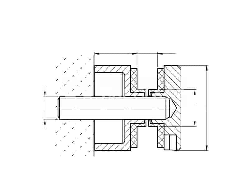 balustrada uchwyt szkła stal nierdzewna rotule słupki szkło