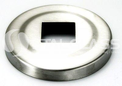Rozeta szlifowana maskująca 64 mm dla profilu 20x20 mm AISI 304