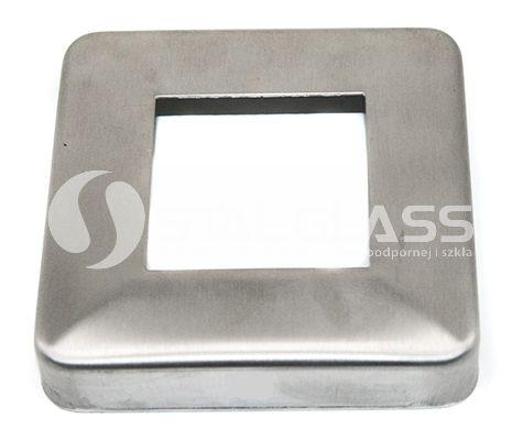 Rozeta maskująca 92x92 mm szlifowana dla profilu 40x40 mm AISI 304
