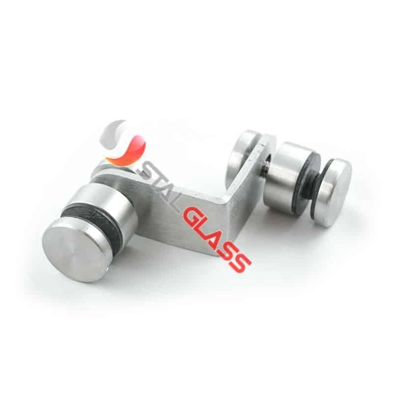 Mocowanie punktowe szkła 90 stopni, średnica rotuli fi 30 , AISI 304 -szlif