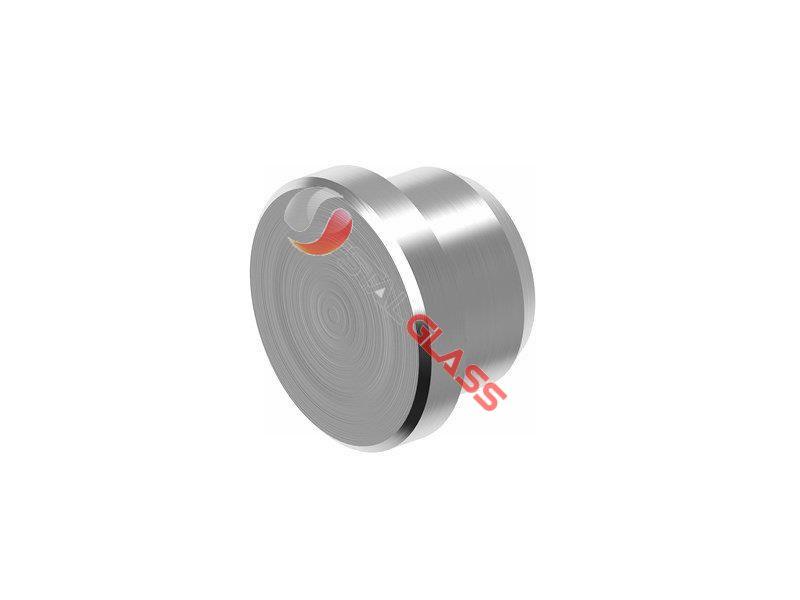 Zaślepka walcowa wklejana w rurę fi 16×1.5mm, AISI 304 – Szlif