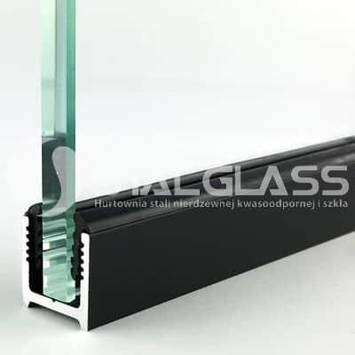 Profil U z uszczelką do szkła 8-12 mm czarna anoda