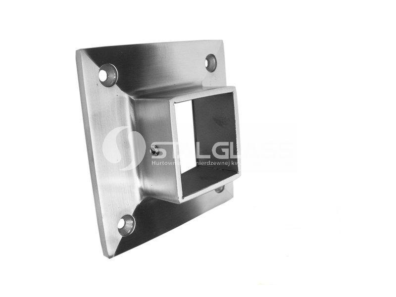 Mocowanie pochwytu 40×40 mm do ściany, AISI 304 szlif