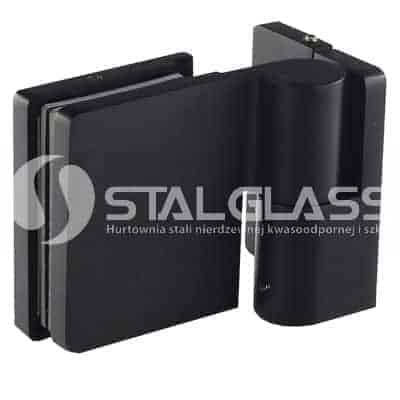 Zawias unoszony prawy ściana-szkło 90 stopni-prosty, czarny