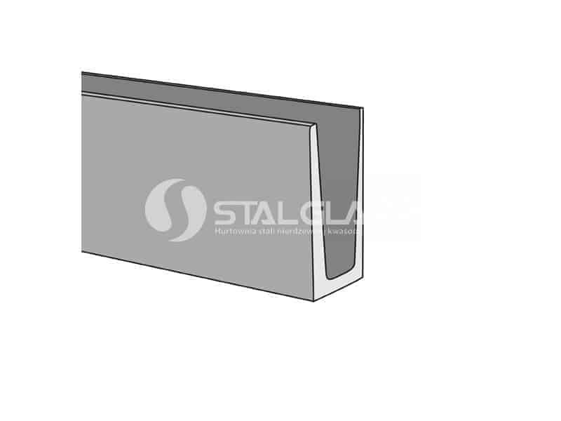 Profil aluminiowy balustrady całoszklanej mocowanie od góry 1250 mm