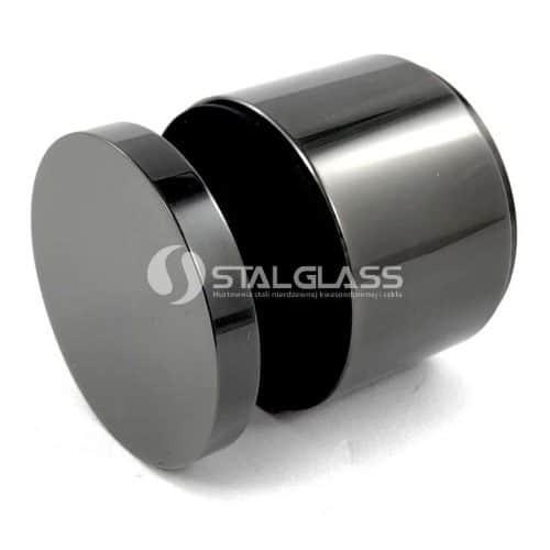 Regulowany czarny uchwyt punktowy do szkła fi 48 mm