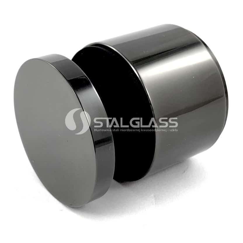Uchwyt punktowy do szkła fi 48 mm, regulowany, czarny